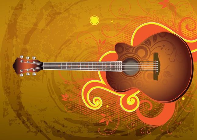 Download Guitar Vector free