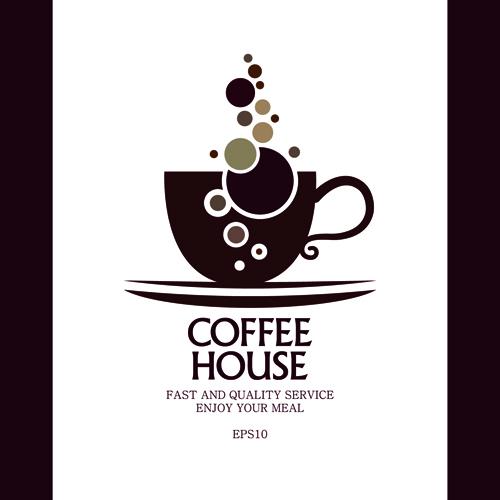 Coffee house menu cover creative design graphics 02 free