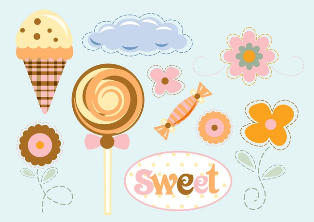 Flowers Sweets Vector free