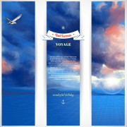 Best summer voyage travel vector banner 04 free