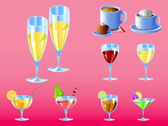 Bar Drinks vector free