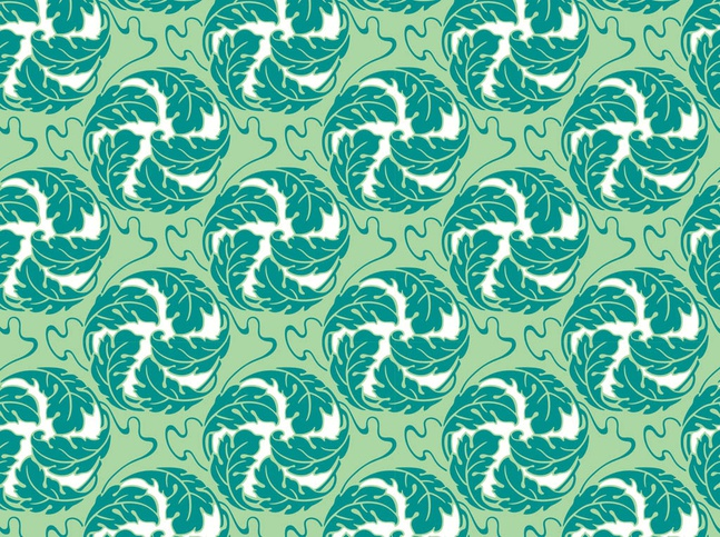 Round Flowers Pattern vector free