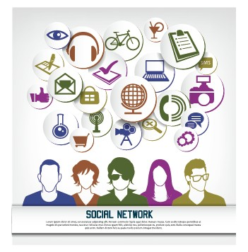 Social network business people vector 05 free