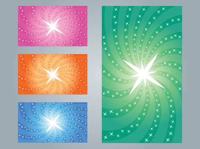 Starburst Designs vector free