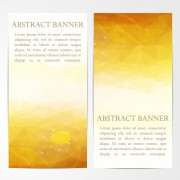 Abstract geometric shapes vertical banners vector 02 free