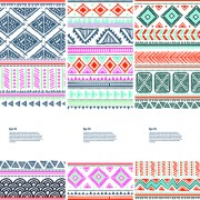 Christmas ethnic pattern banner vector 01 free