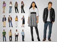Full Body Portraits vector free