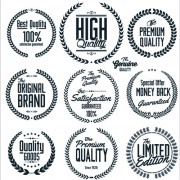 Ornate high quality labels vector 01 free