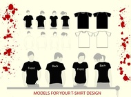 T-Shirt Illustrations vector free
