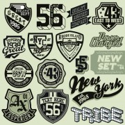 Vintage T-shirt labels creative vector 01 free