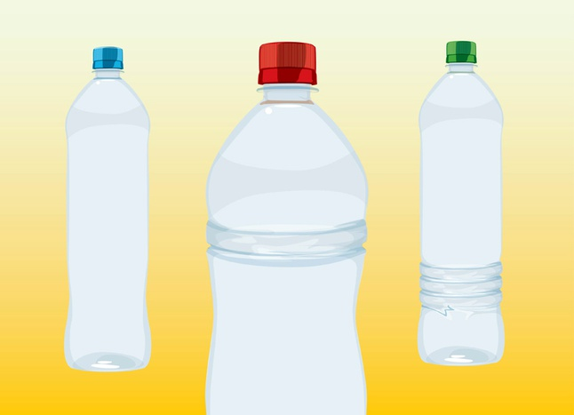 Water Bottles vector free