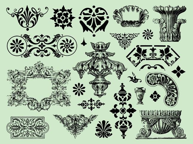 Antique Graphics vector free