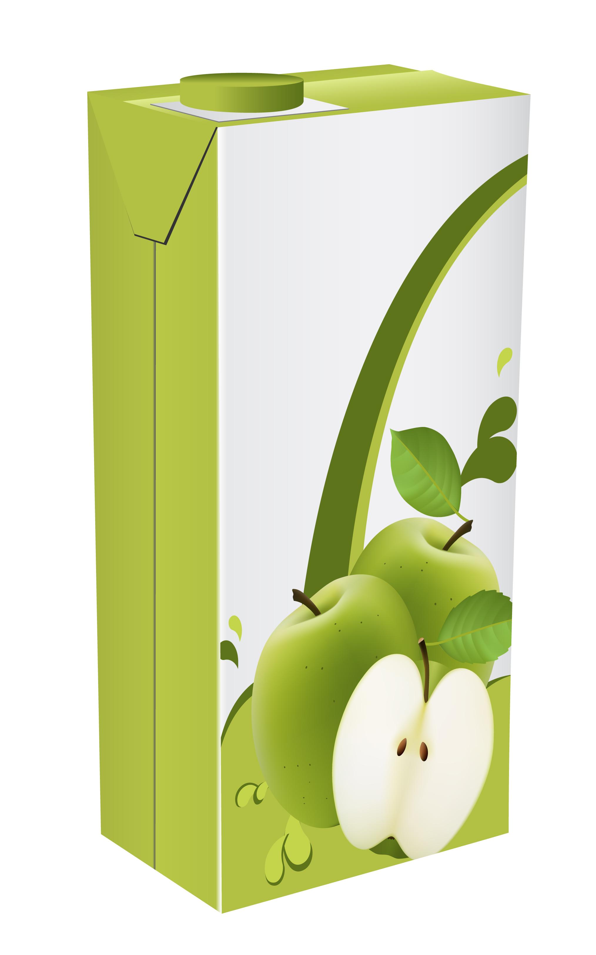 Apple juice drinks package design vector 01 free