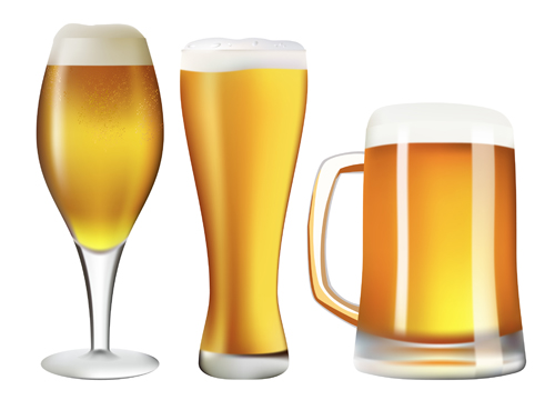Beer and glass cup design graphic vector 05 free