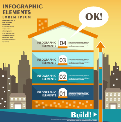 Business Infographic creative design 1162 free