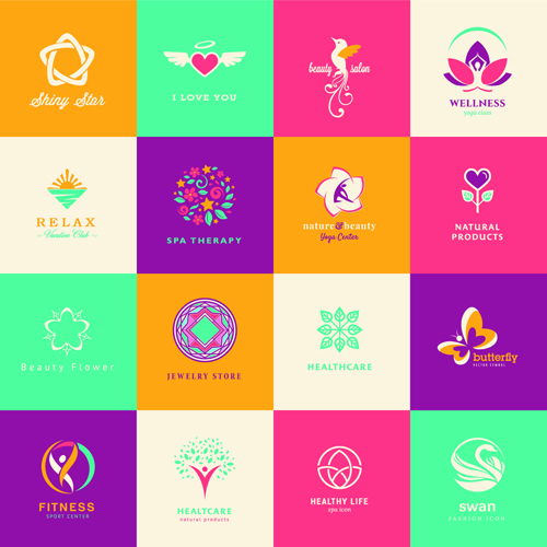 Creative medical and healthcare logos vector set 03 free