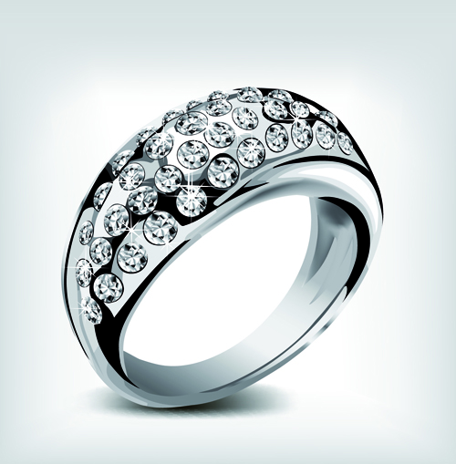 Realistic rings creative design vector set 07 free