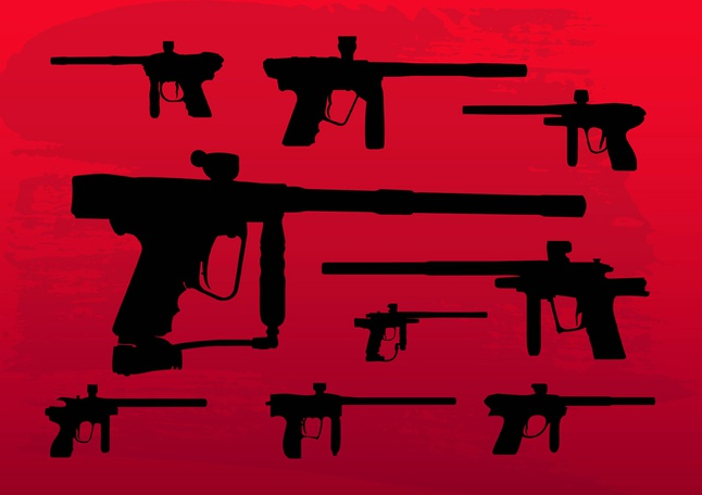 Paintball Guns vector free