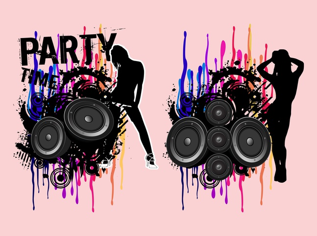 Party Girls Vectors free