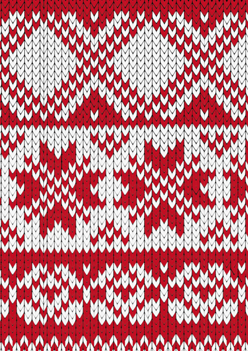 Red and white fabric pattern vector free