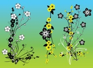 Chinese Flowers Vector Art free
