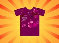 Pink T-Shirt vector free