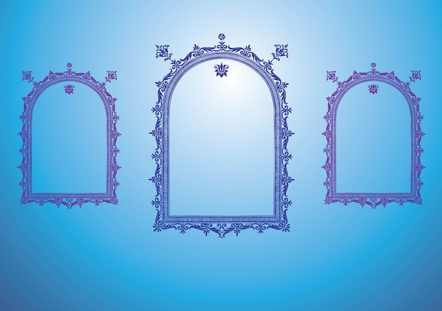 Antique Frame Graphics vector free
