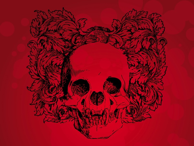 Antique Skull vector free