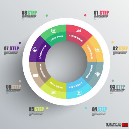 Business Infographic creative design 1390 free