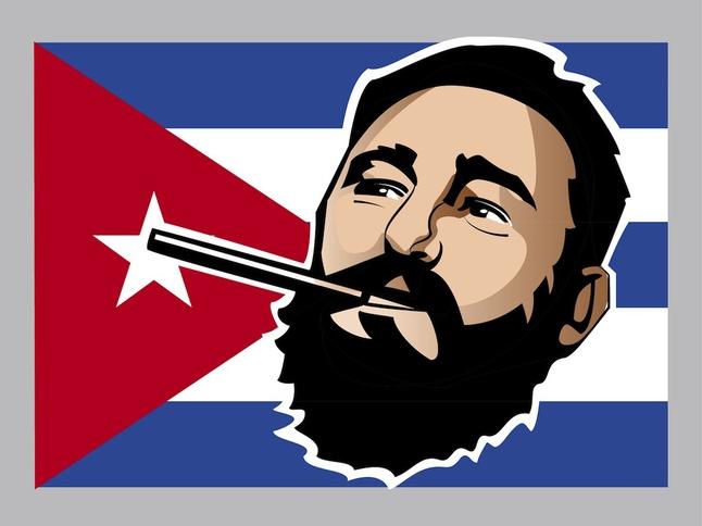 Fidel Castro vector free