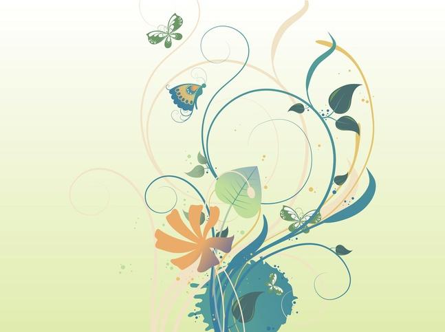 Floral Graffiti vector free