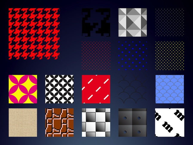 Pattern Swatches vector free