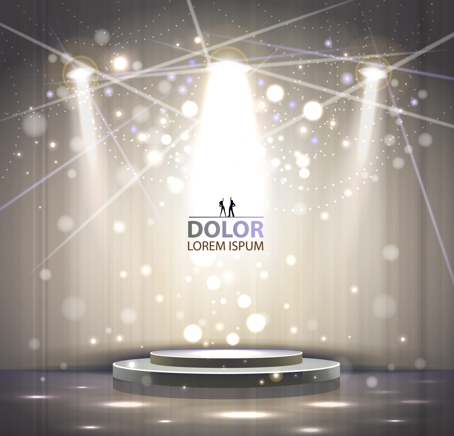 Shiny Stage spotlights design elements vector 04 free
