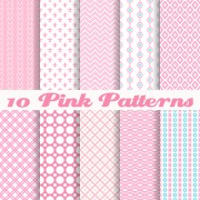 Cute pink pattern vector graphics free