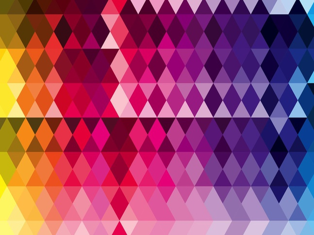 Triangles Pattern vector free