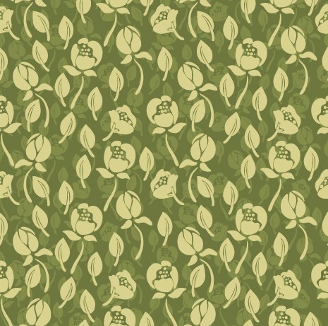 Vintage green flower seamless pattern free