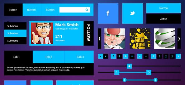 Free Metro UI PSD Set
