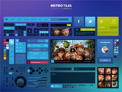 Metro Tiles UI Kit (PSD)