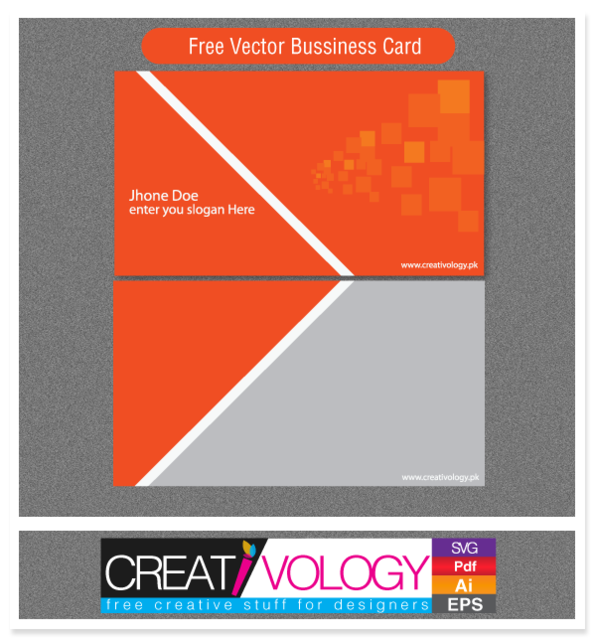 Abstract front back business card template vector free for Front and back business card template