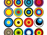 Colorful Circles vector free