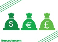 Currency Icons Graphics vector free