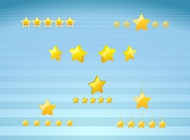 Gold Star Icons vector free