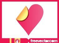 Heart Sticker Graphics vector free
