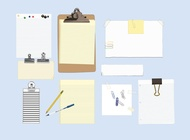 Office Supplies vector free