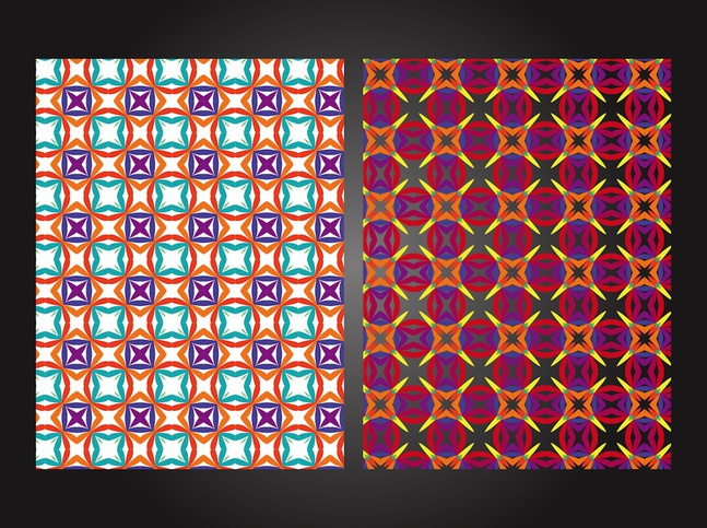 Colorful Patterns vector free