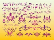 Floral Tattoo Art vector free