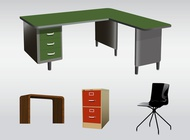 Office Furniture vector free