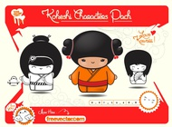 Traditional Japanese Dolls vector free