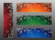 Winter Banners vector free