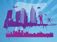 City Theme vector free